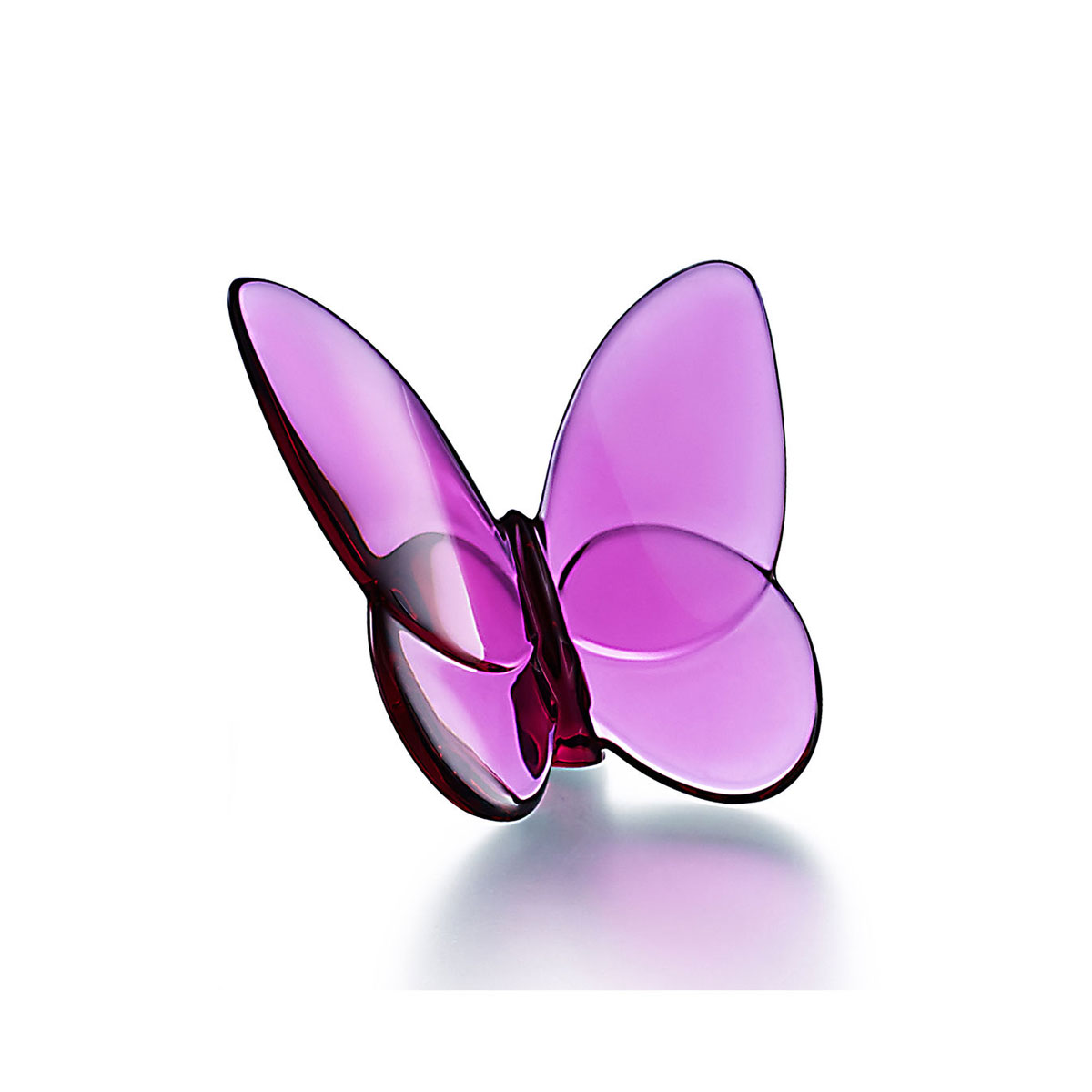 Baccarat Crystal, Lucky Butterfly, Peony Pink