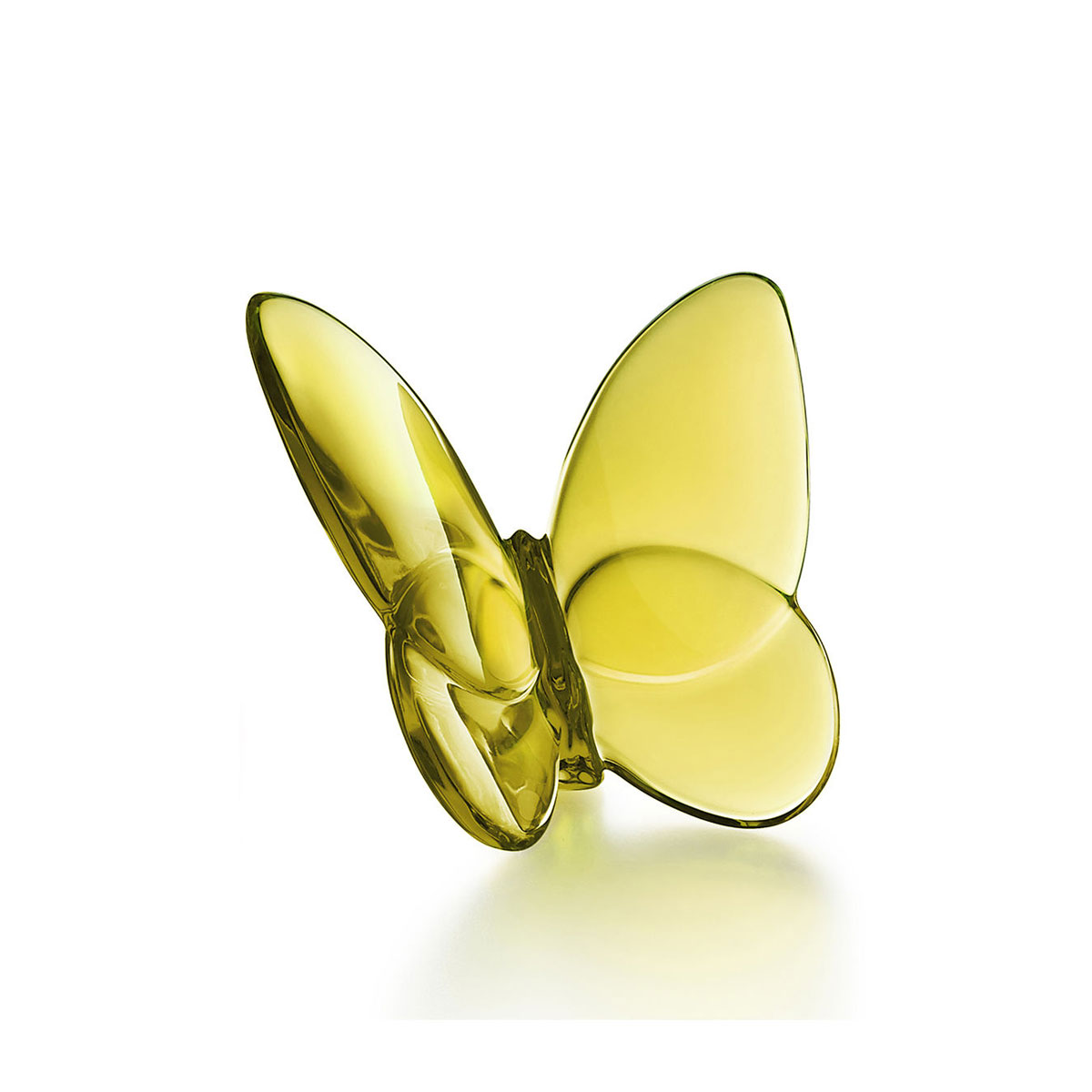 Baccarat Crystal, Lucky Butterfly, Amber