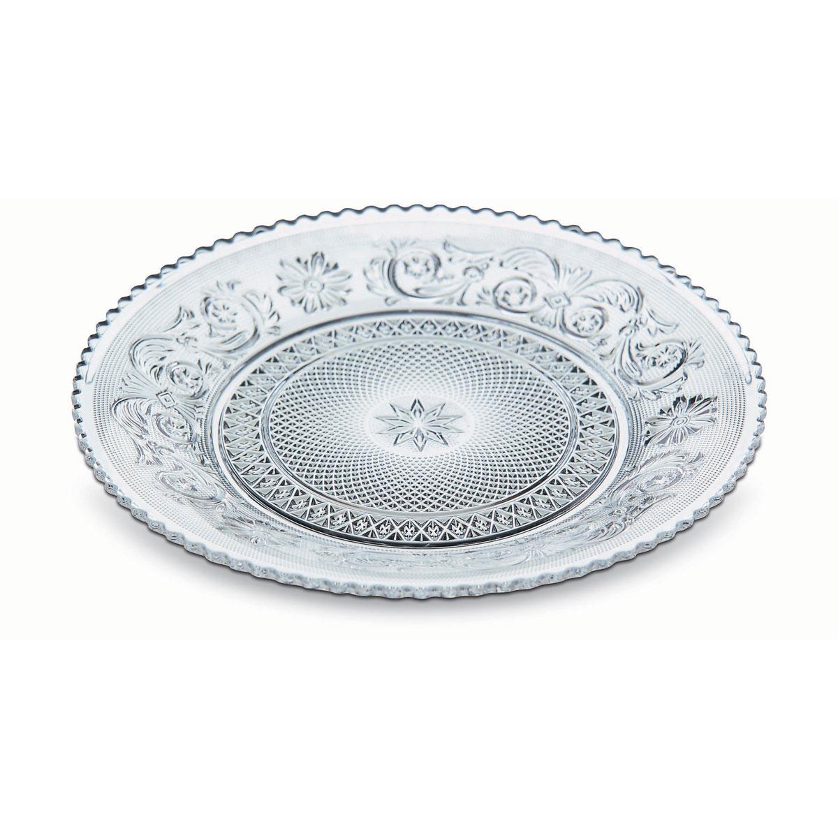 Baccarat Crystal, Arabesque Dessert Plate, Single