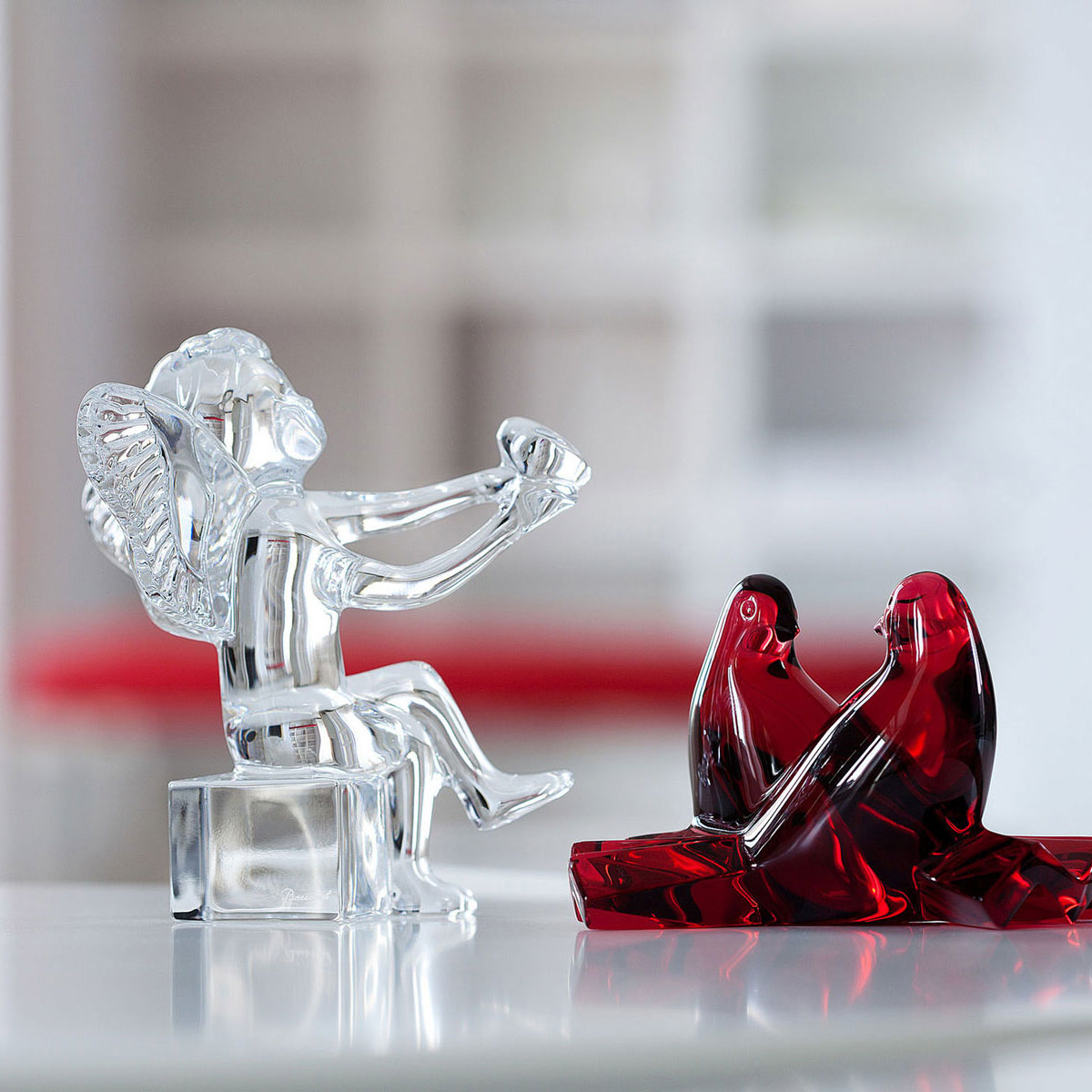 Baccarat Crystal, Loving Doves Ruby