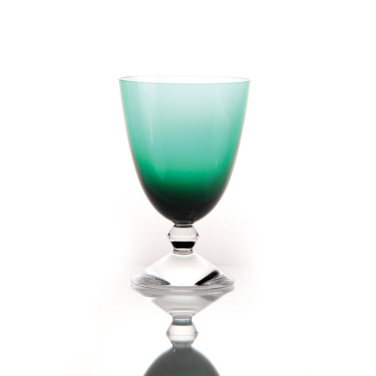 Baccarat Crystal, Vega Water Glass Emerald Green, Single
