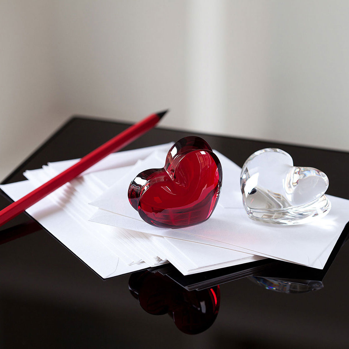 Baccarat Crystal, Zinzin Hearts Ruby Large