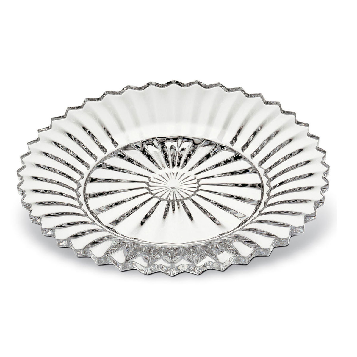 "Baccarat Crystal, Mille Nuits 7 1/2"" Salad Plate, Single"