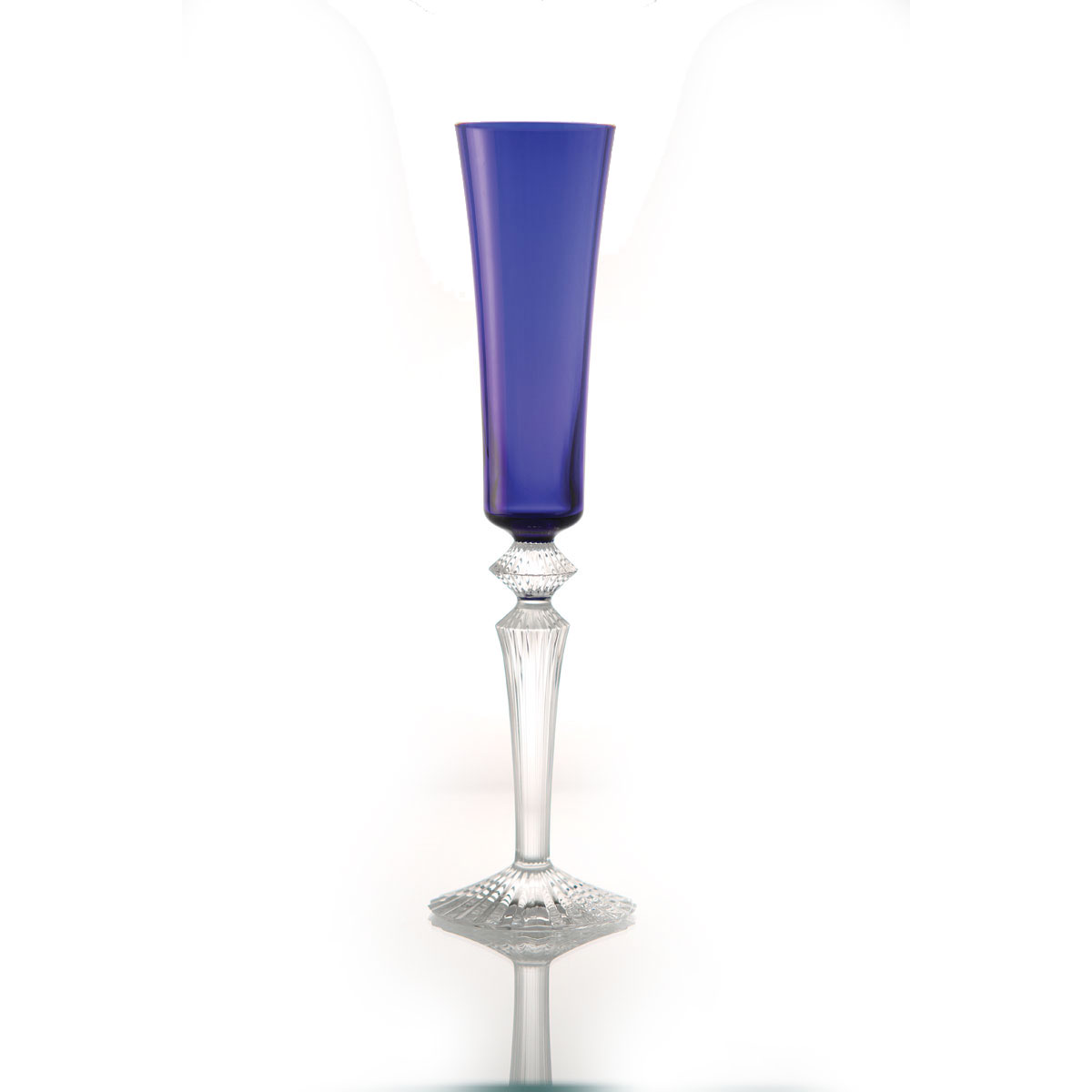 Baccarat Crystal Mille Nuits Flutissimo Sapphire Flute, Single