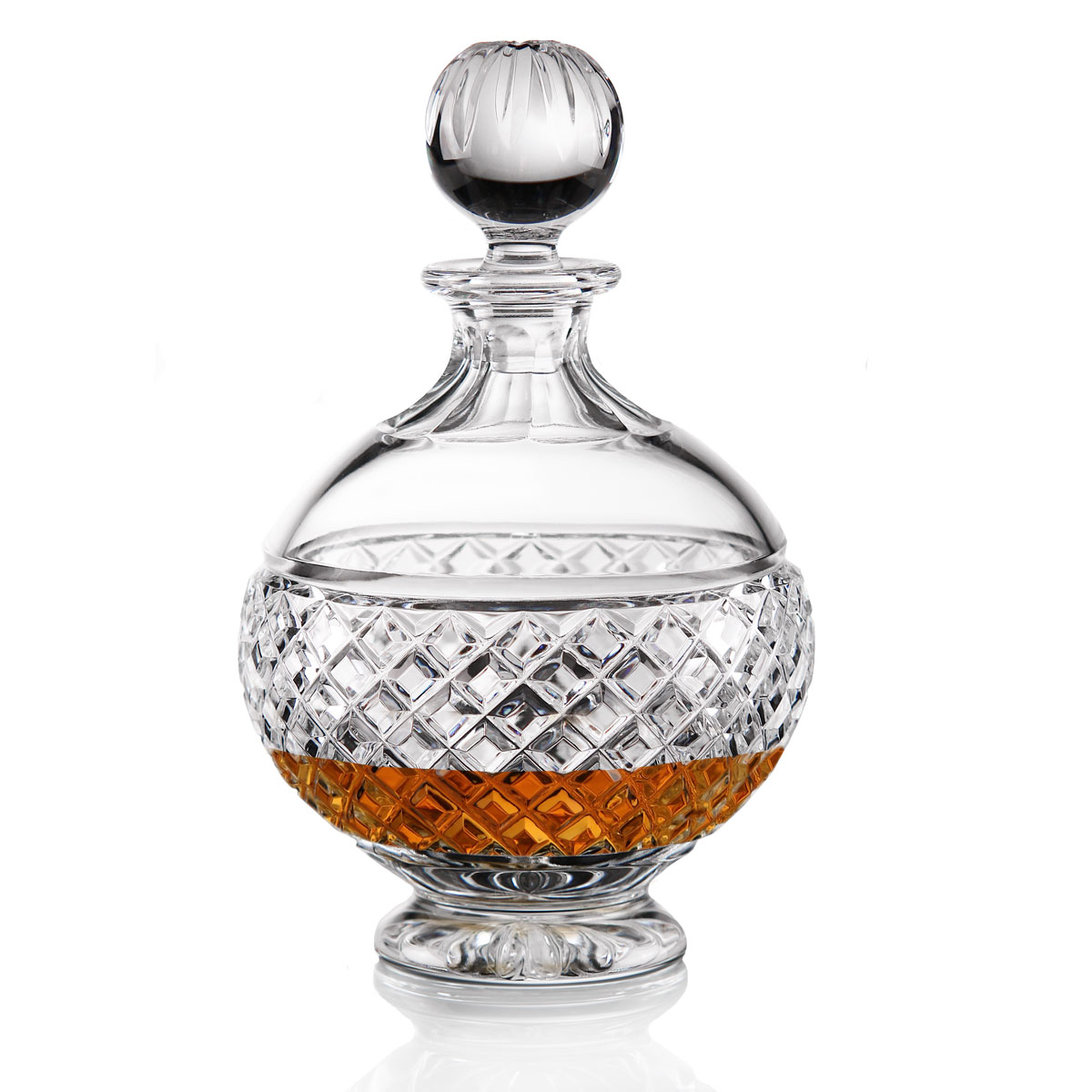 Cashs Ireland, Cooper Round Crystal Decanter with Stopper