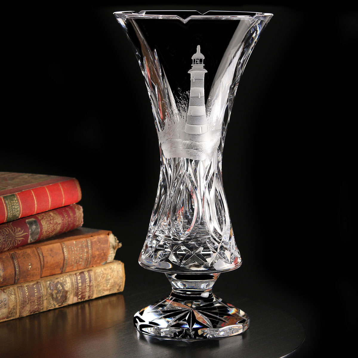 Cashs Ireland, Art Collection Lighthouse Series, Any Port Crystal Vase, Limited Edition