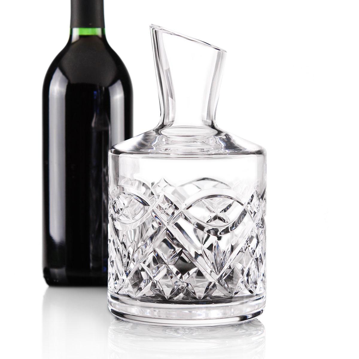 Cashs Ireland, Celtic Ring Crystal Wine Carafe