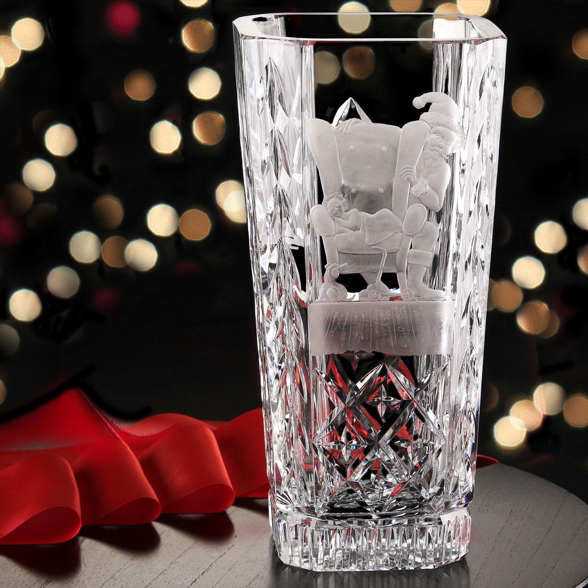 Cashs Crystal Art Collection, Santa Shhh! Vase