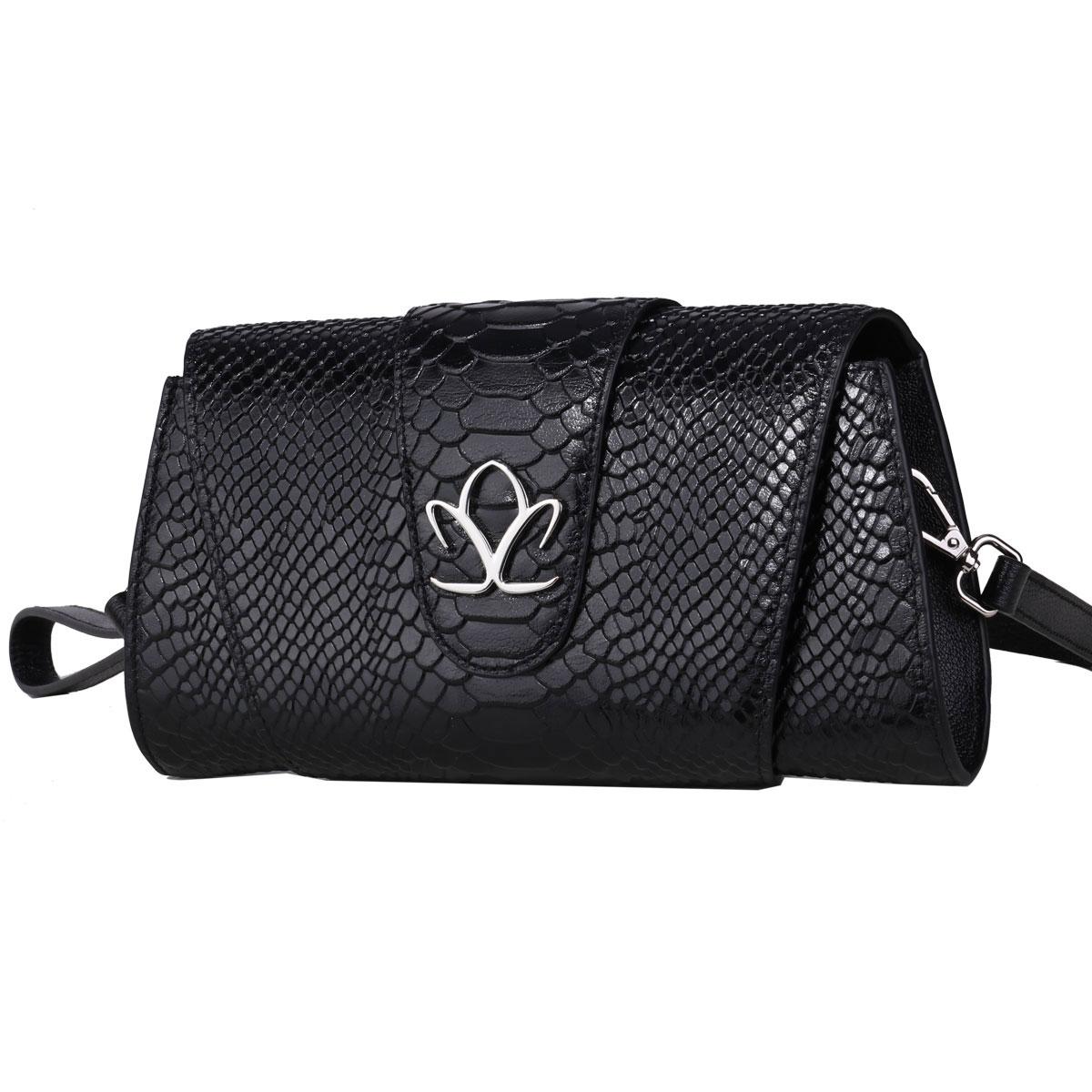 Cashs Ireland, Top Grain Leather Fionna Black Clutch Handbag