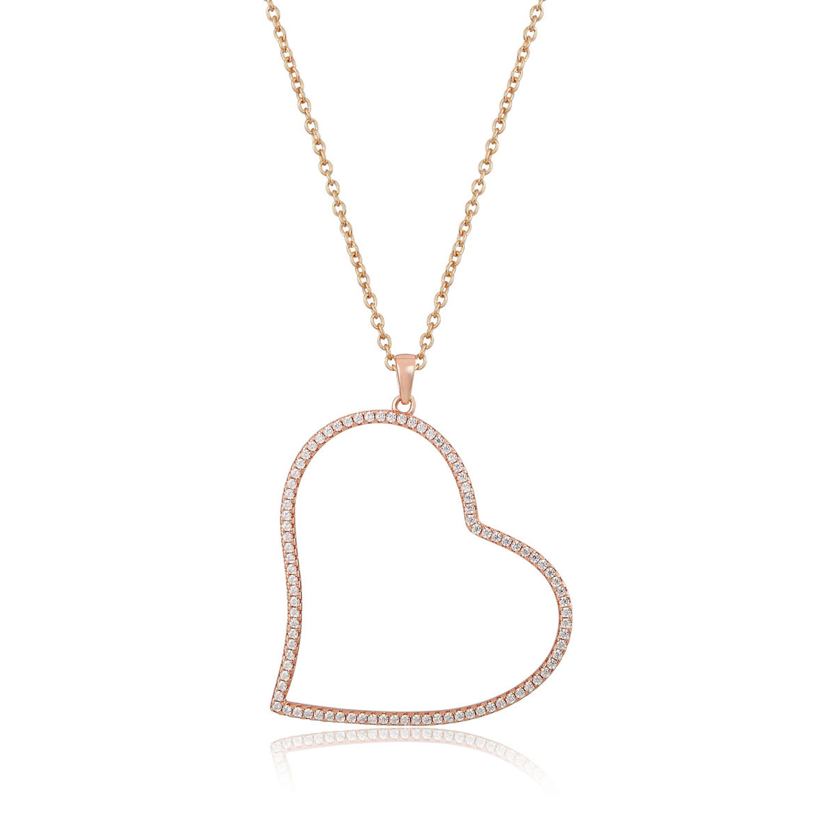 Cashs Ireland, Tender Heart 18k Gold and Crystal Necklace