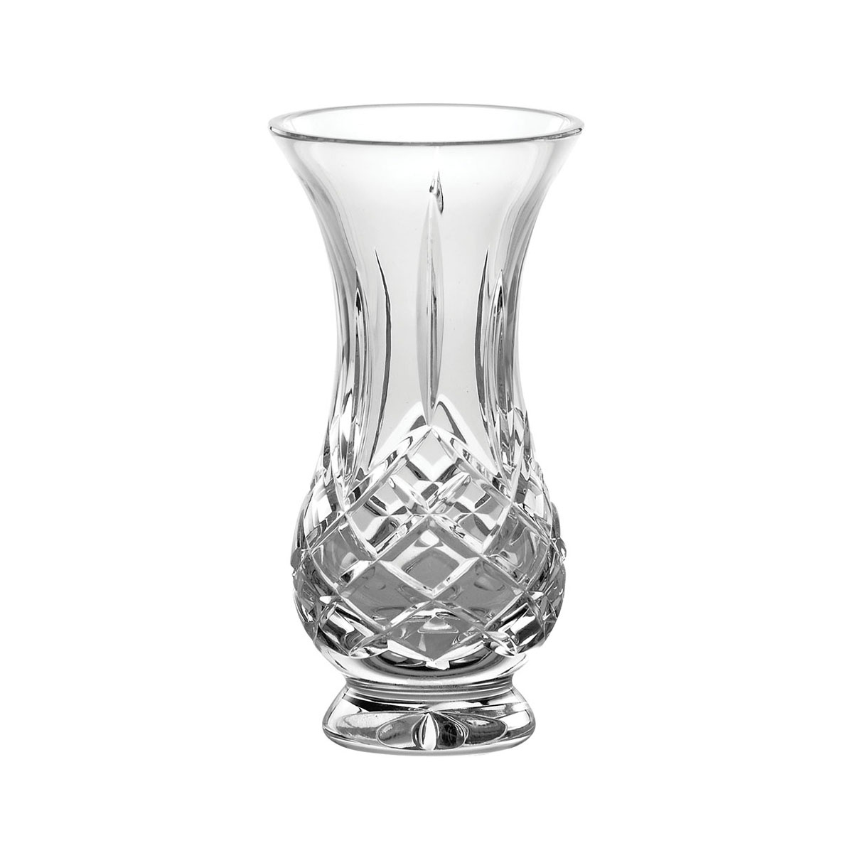 "Galway Crystal Longford 5"" Footed Bud Vase"