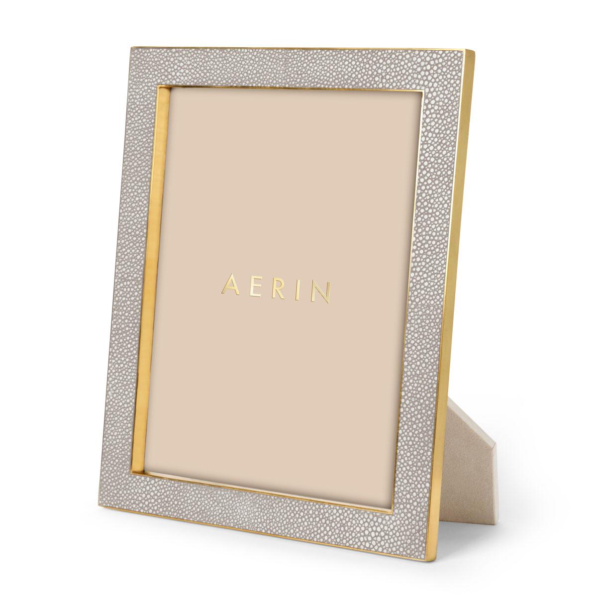 "Aerin Classic Shagreen Frame, Dove 8x10"""