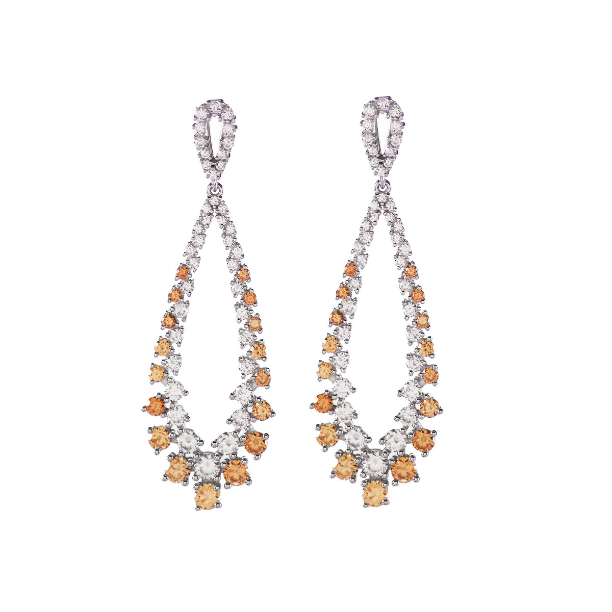Cashs Ireland, Eve Crystal and Amber Pierced Earrings