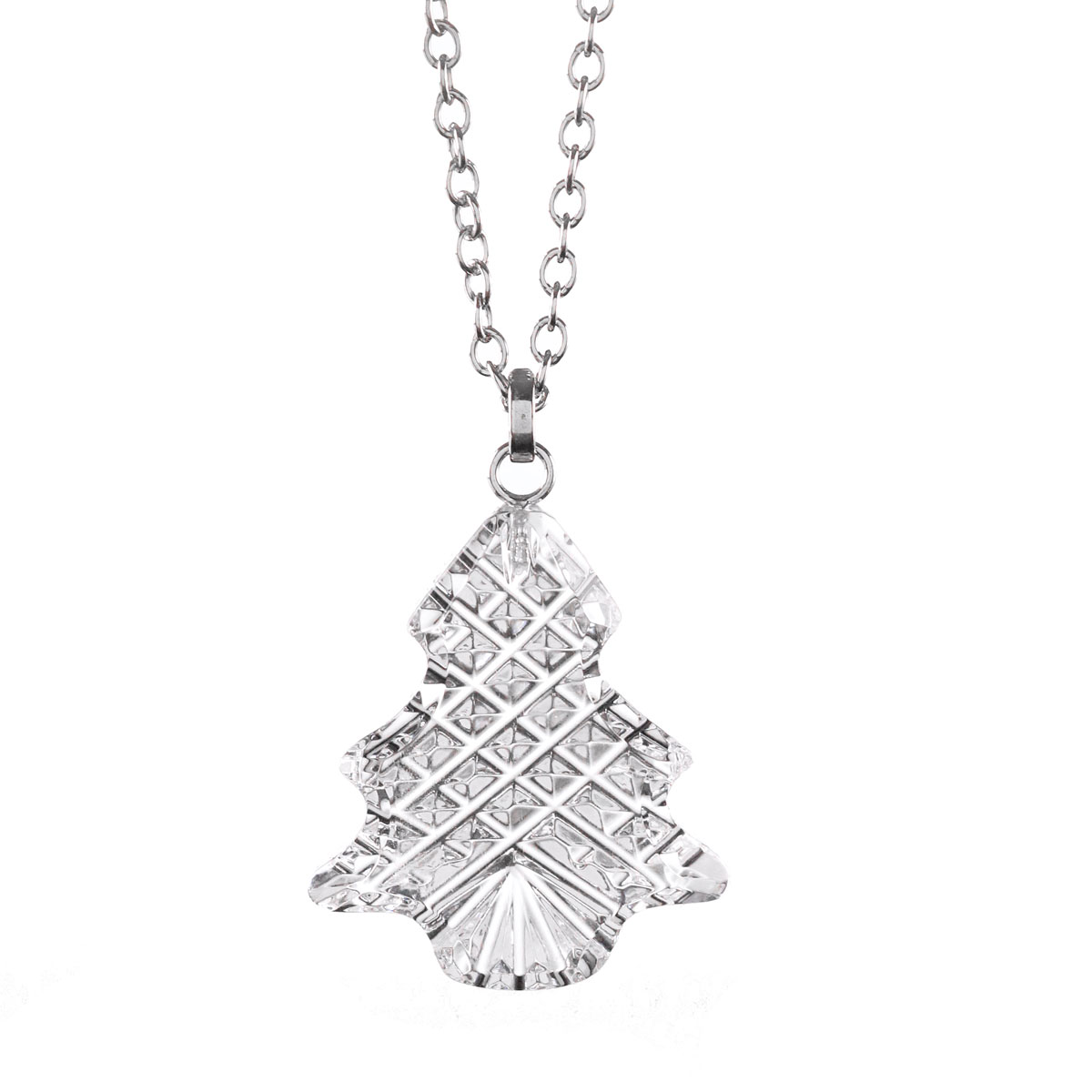 Cashs Ireland, Crystal Christmas Snowy Tree Pendant Necklace