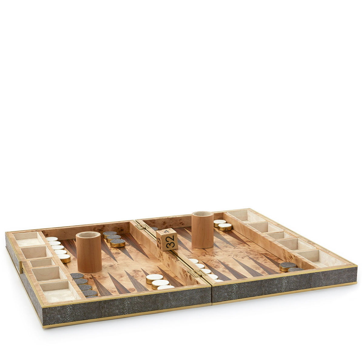 Aerin Shagreen Backgammon Set, Chocolate