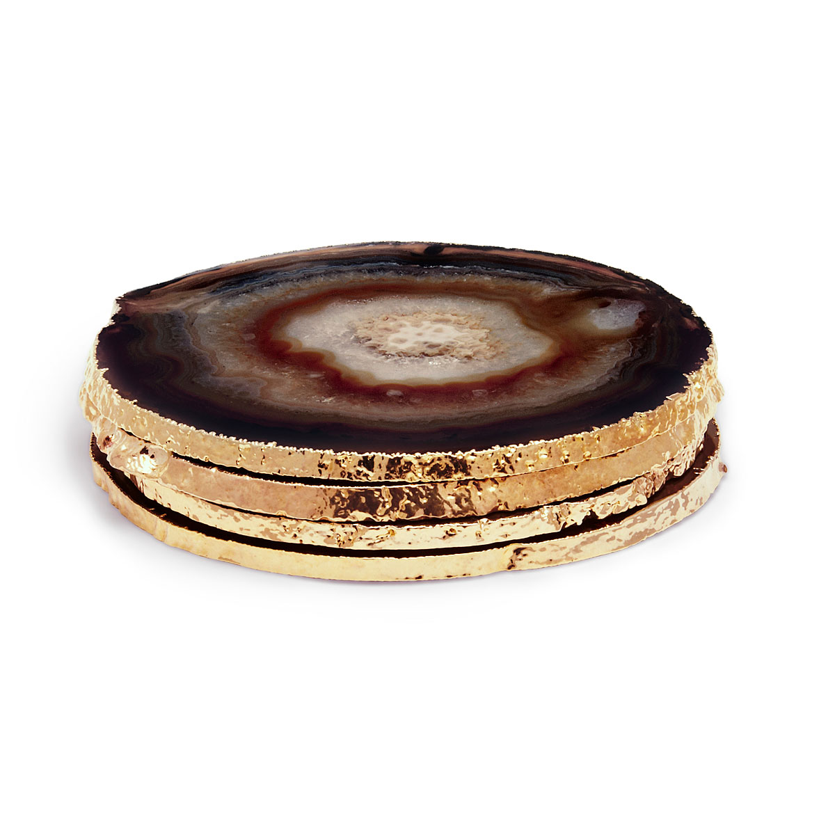 Aerin Agate Coasters, Black Set of Four