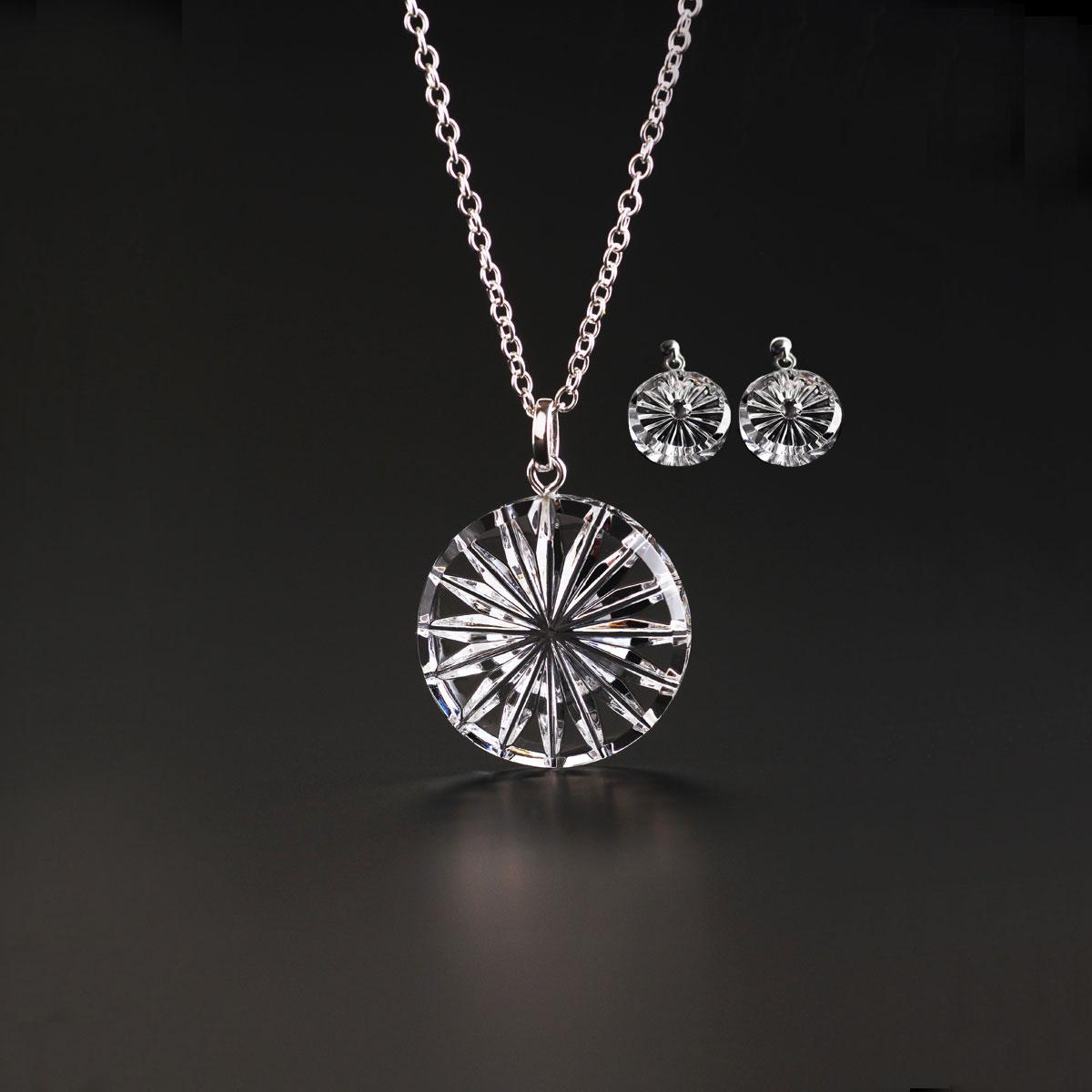 Cashs Ireland, Newgrange Circle Necklace and Pierced Earrings Gift Set