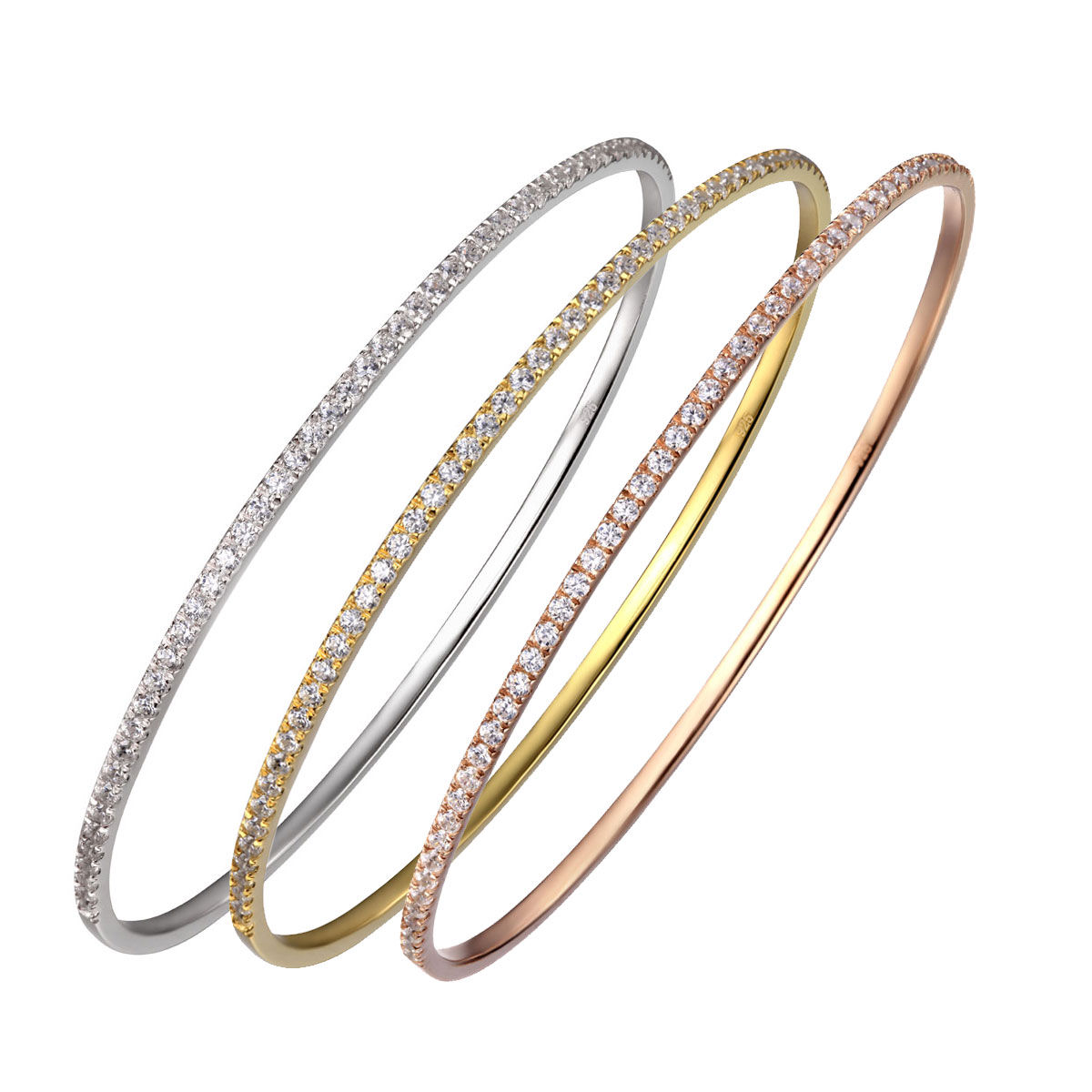Cashs Ireland, Bond Bangle Bracelet Set, Silver, Gold and Rose Gold