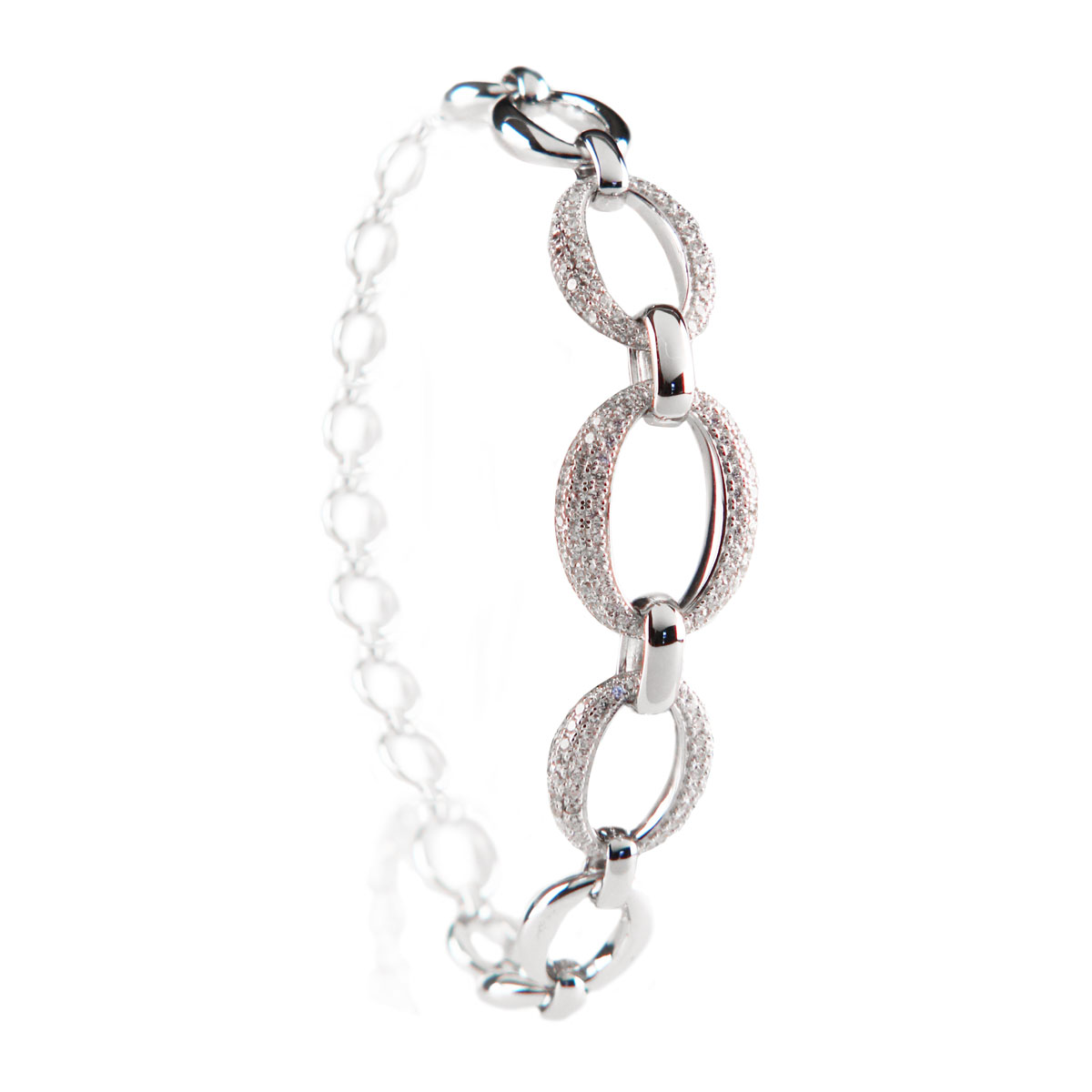 Cashs Ireland, Crystal and Silver Cocktail Statement Bracelet