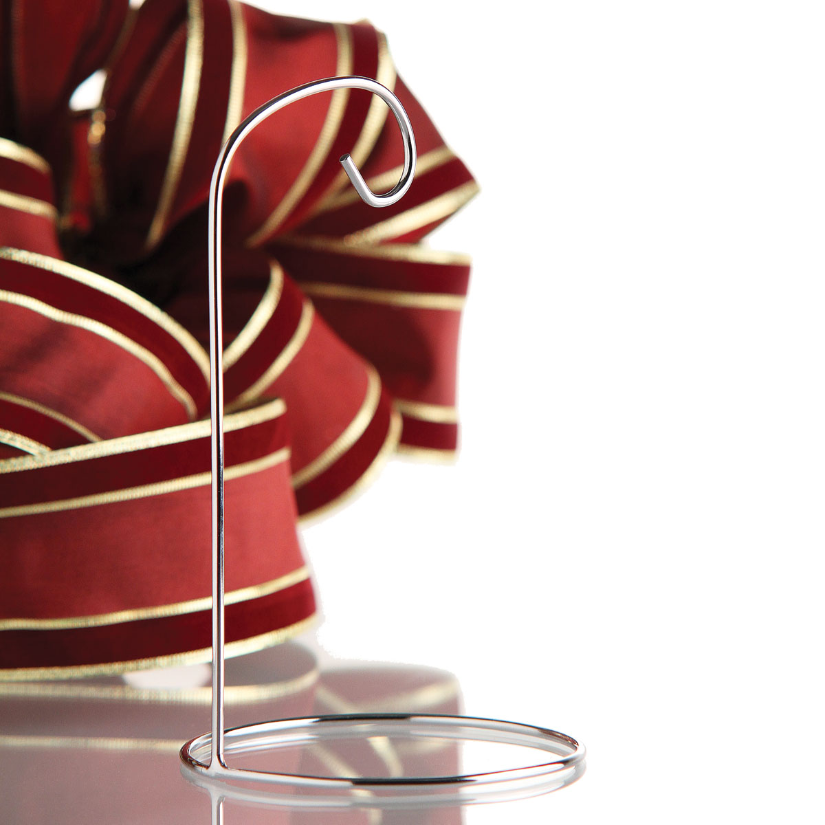 """Silver Ornament Stand Single 7"""""""