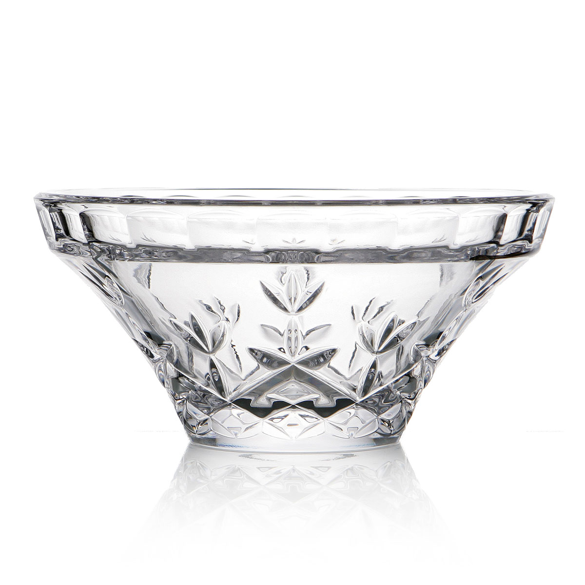 "Cashs Ireland, Hawthorne Fairy 6"" Crystal Bowl"