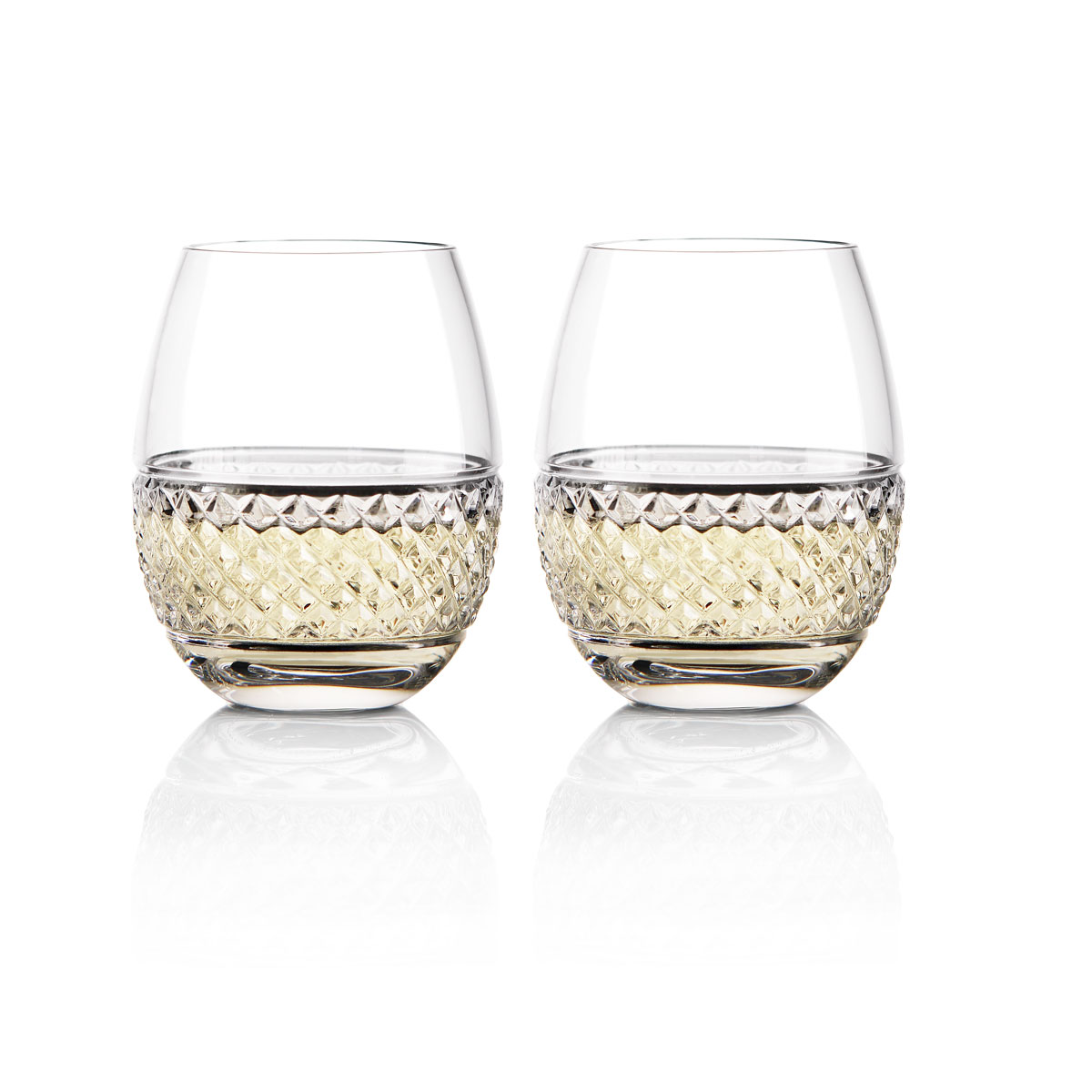 Cashs Ireland Cooper Stemless White Wine Glasses, 1+1 Free
