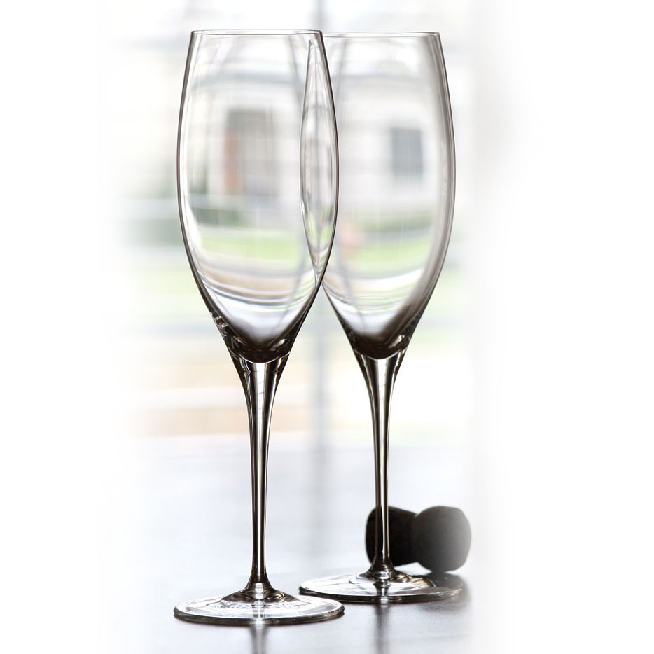 Riedel Sommeliers, Hand Made, Vintage Champagne Crystal Glasses, Pair
