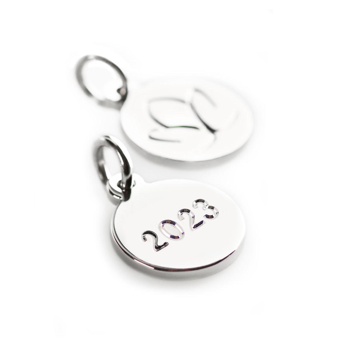 Silver Ornament Tag 2021