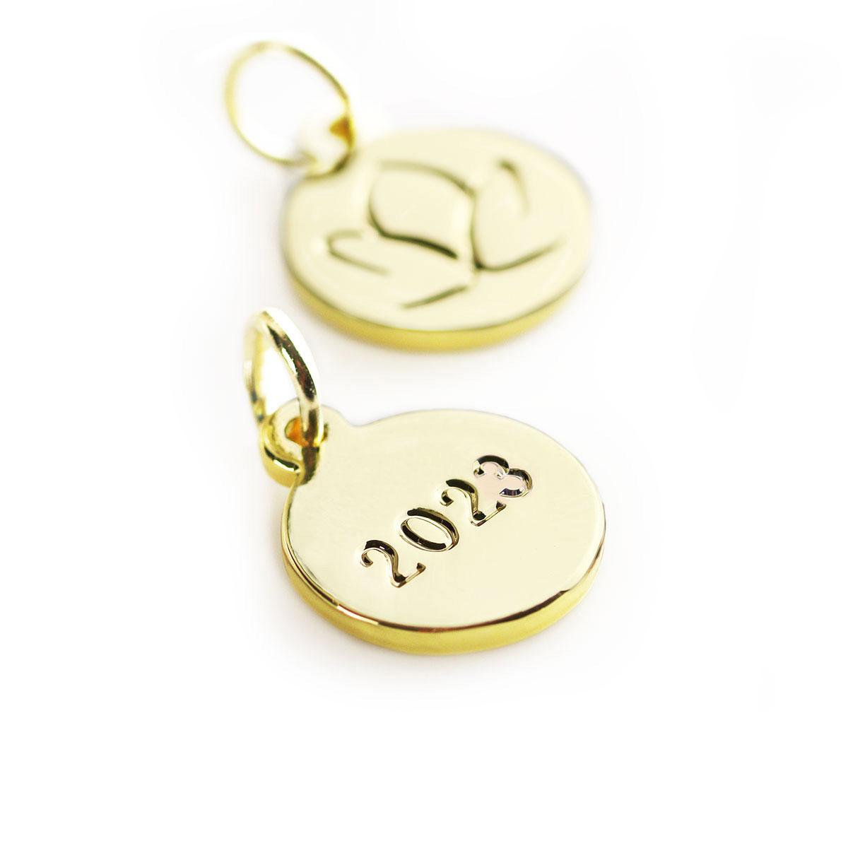 Golden Ornament Tag 2021