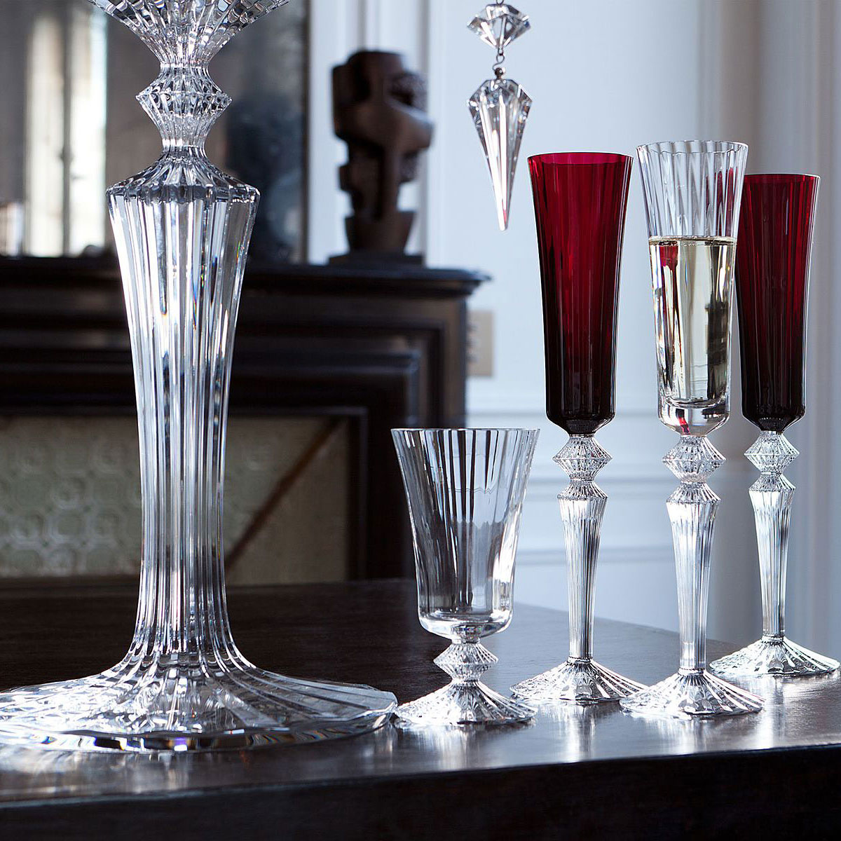 Baccarat Mille Nuits Candleholders, Pair