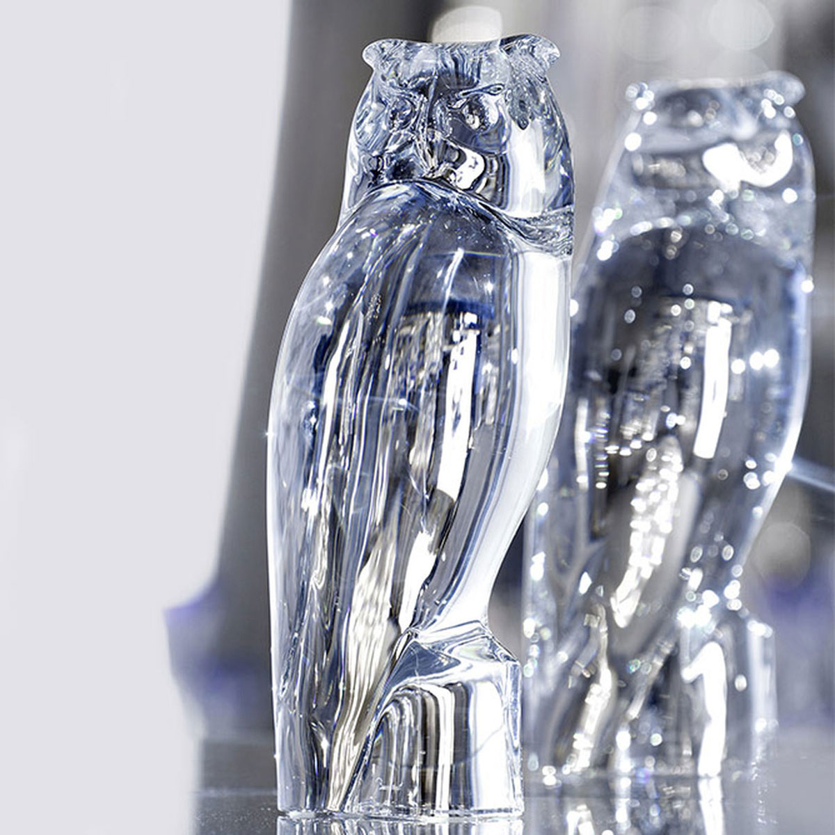 Baccarat Crystal, Clear Eagle Owl, Limited Edition, Signed