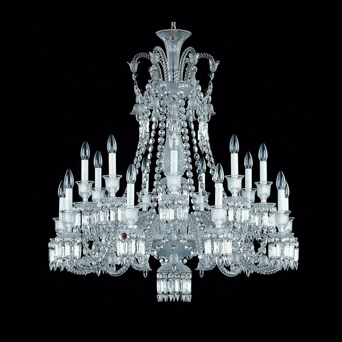Baccarat Crystal, Zenith Long Chandelier, 18 Light