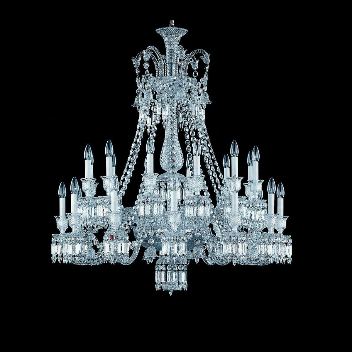 Baccarat Crystal, Zenith Crystal Chandelier, 24 Light