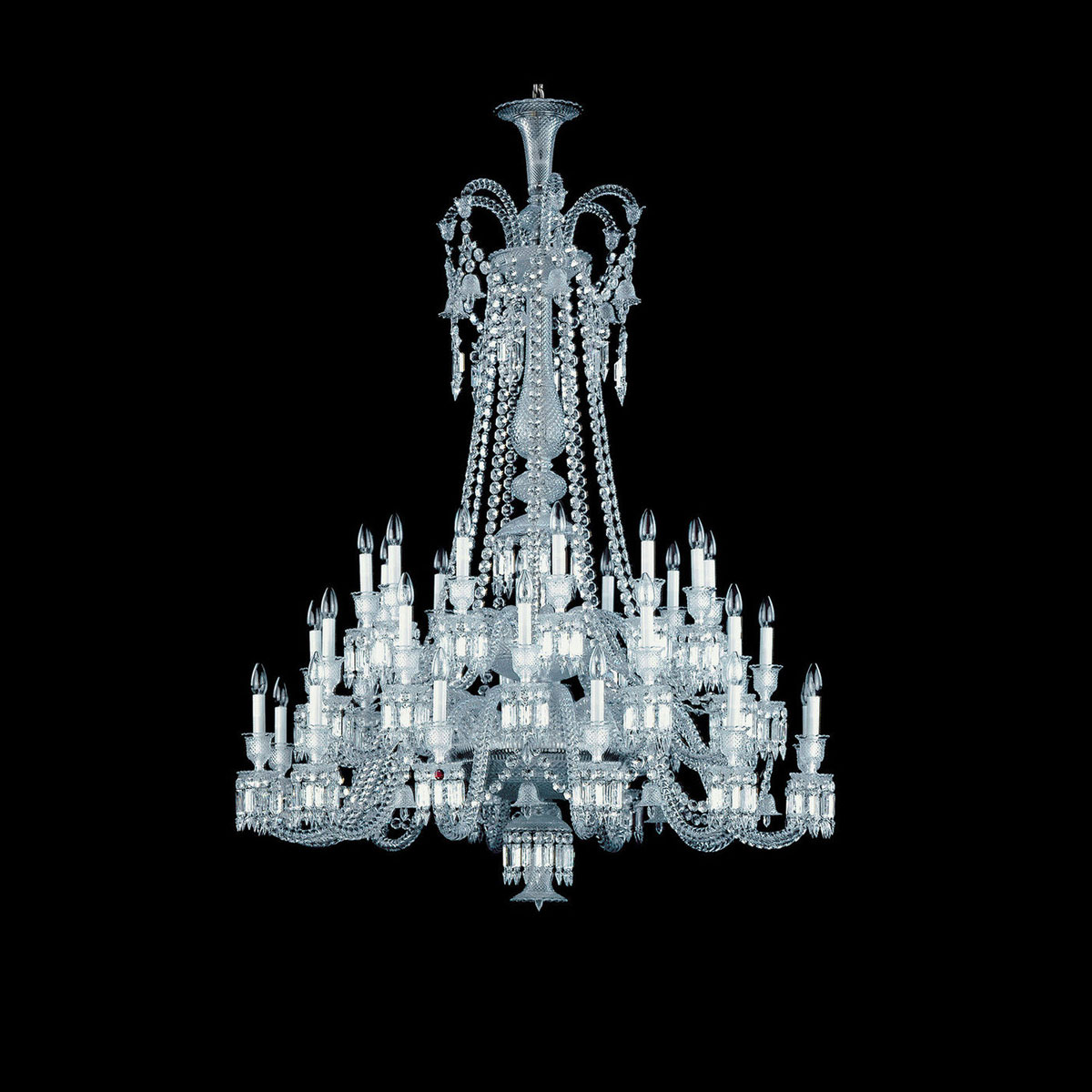 Baccarat Crystal, Zenith Long Chandelier, 36 Light