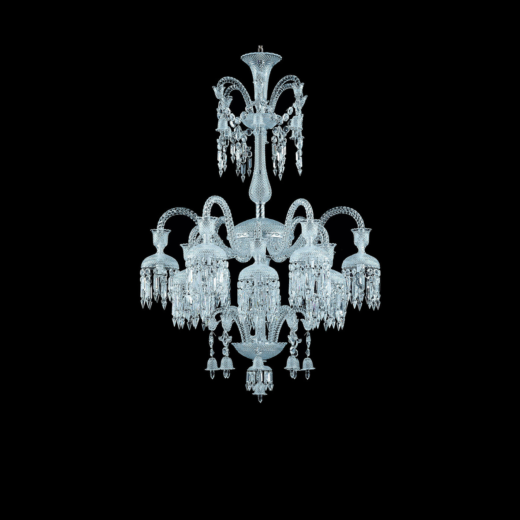 Baccarat Crystal, Solstice 12 Light Chandelier