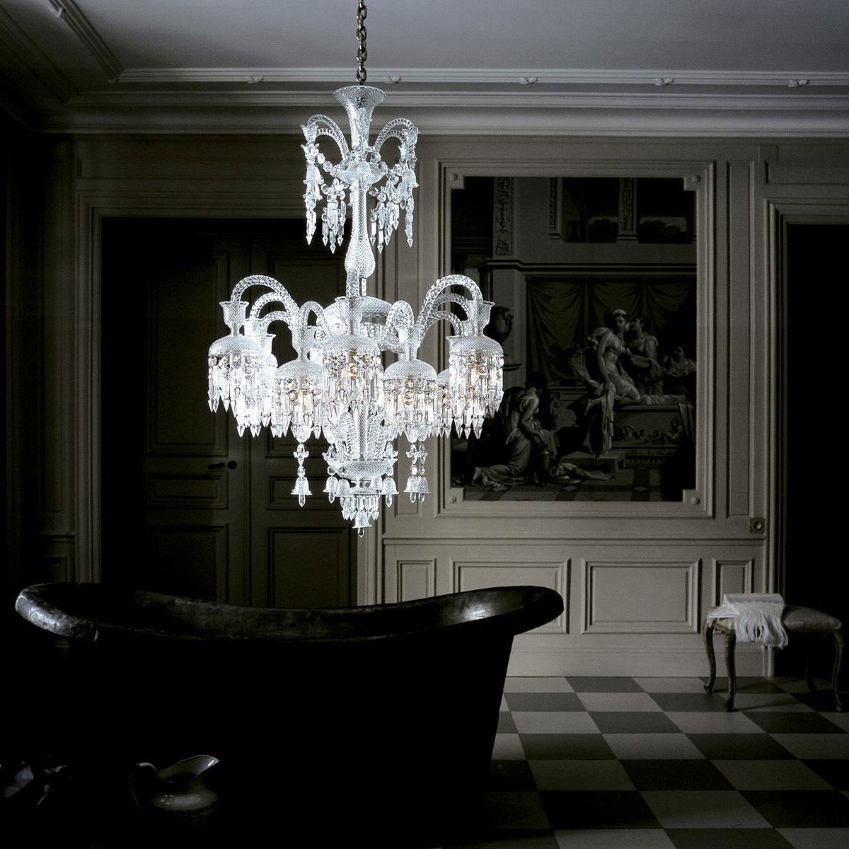 Baccarat Crystal, Solstice Crystal Chandelier 18 Light Crystal Chandelier