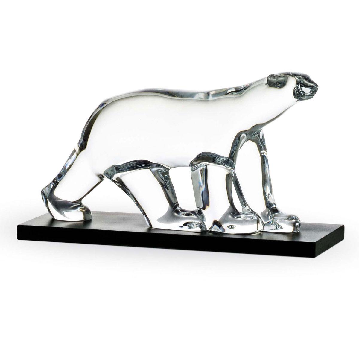 Baccarat Crystal Polar Bear Sculpture