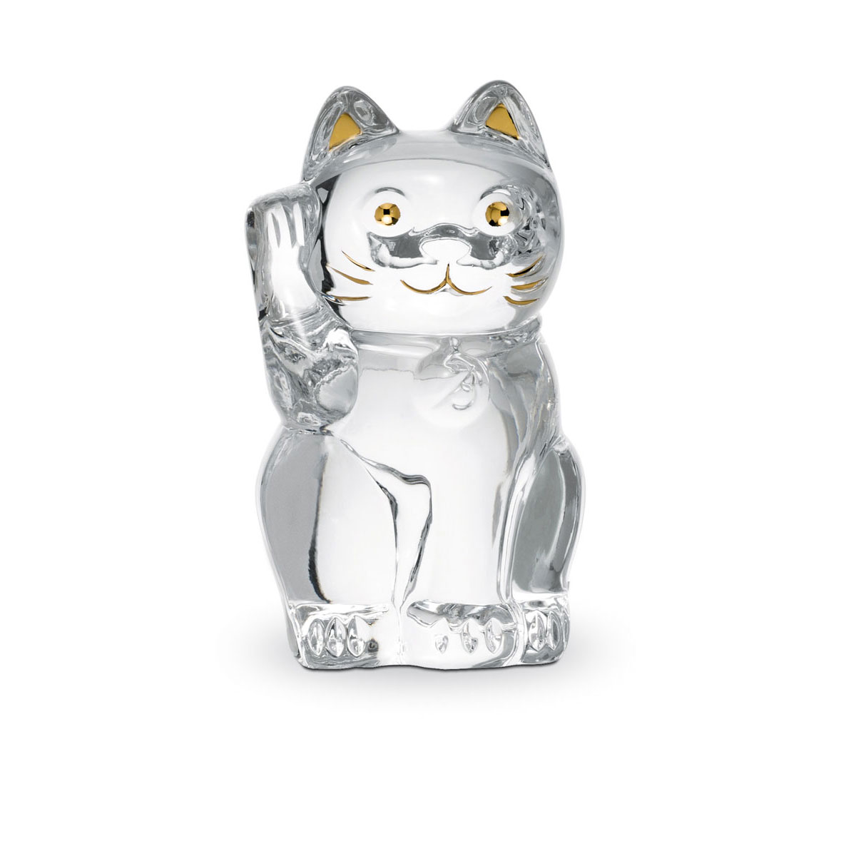 Baccarat Crystal, Lucky Cat, Clear