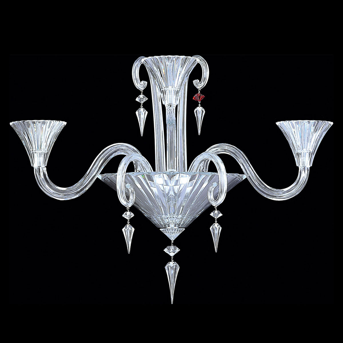 Baccarat Crystal, Mille Nuits 3 Light Wall Crystal Sconce