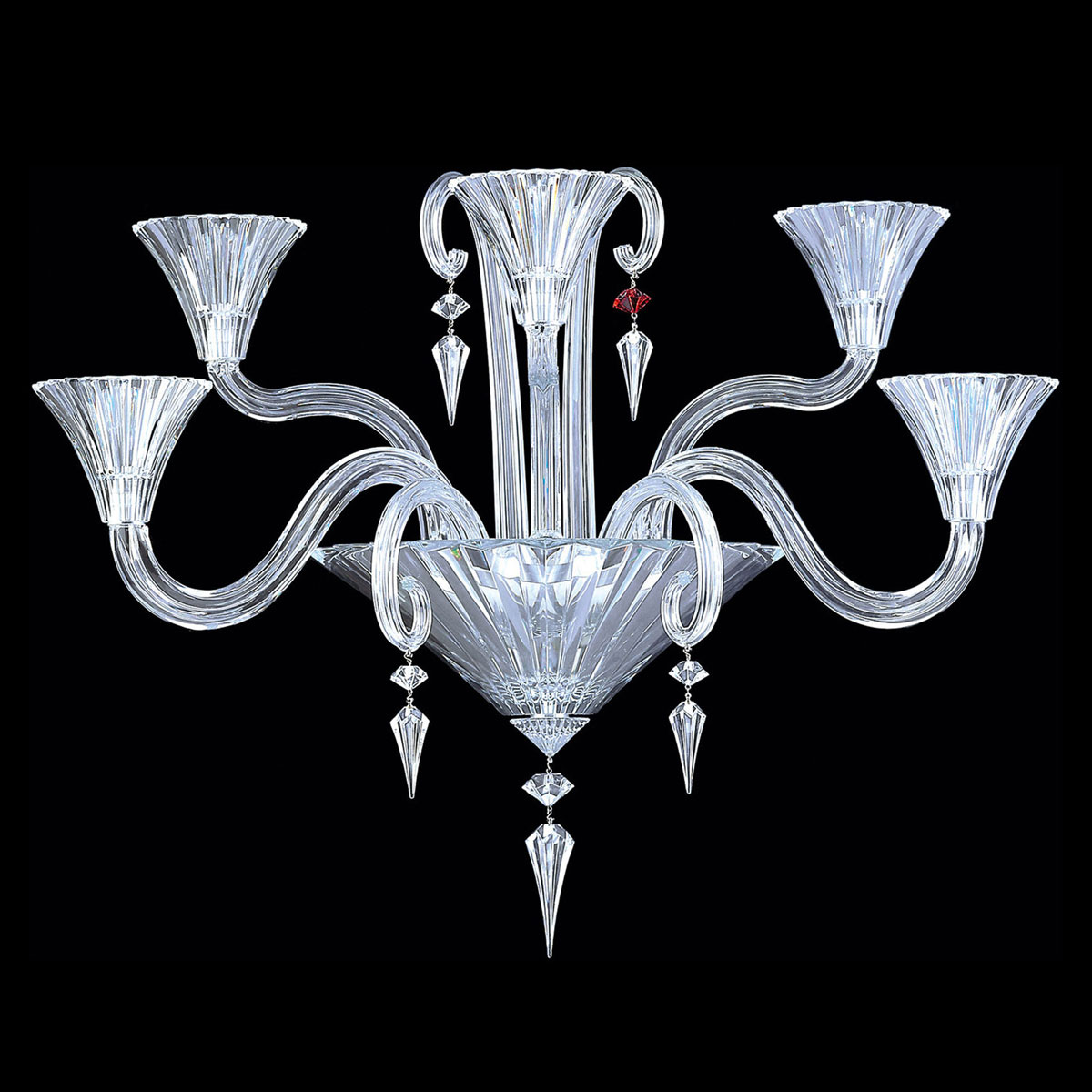 Baccarat Crystal, Mille Nuits 5 Light Wall Crystal Sconce