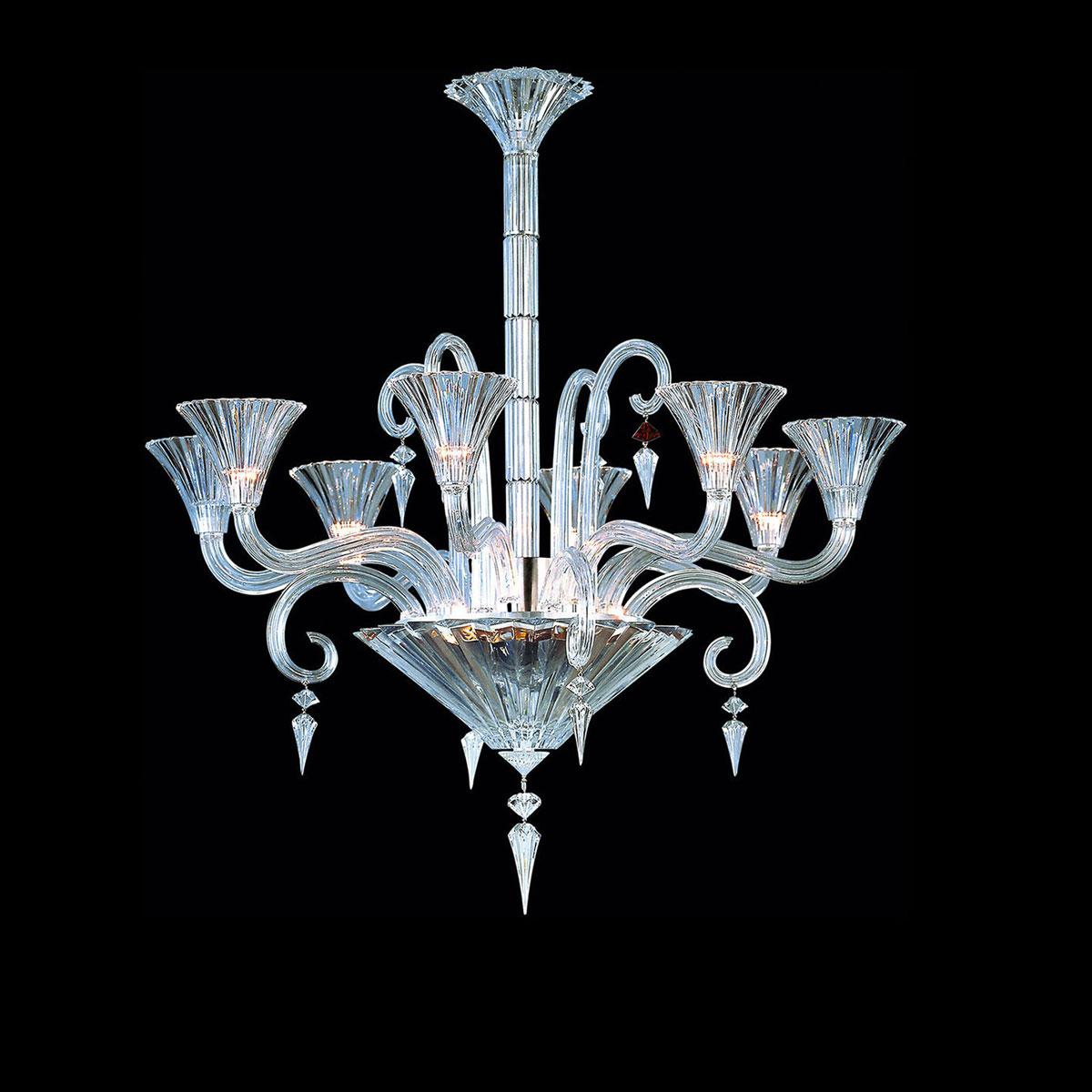 Baccarat Crystal, Mille Nuits 8 Light Chandelier