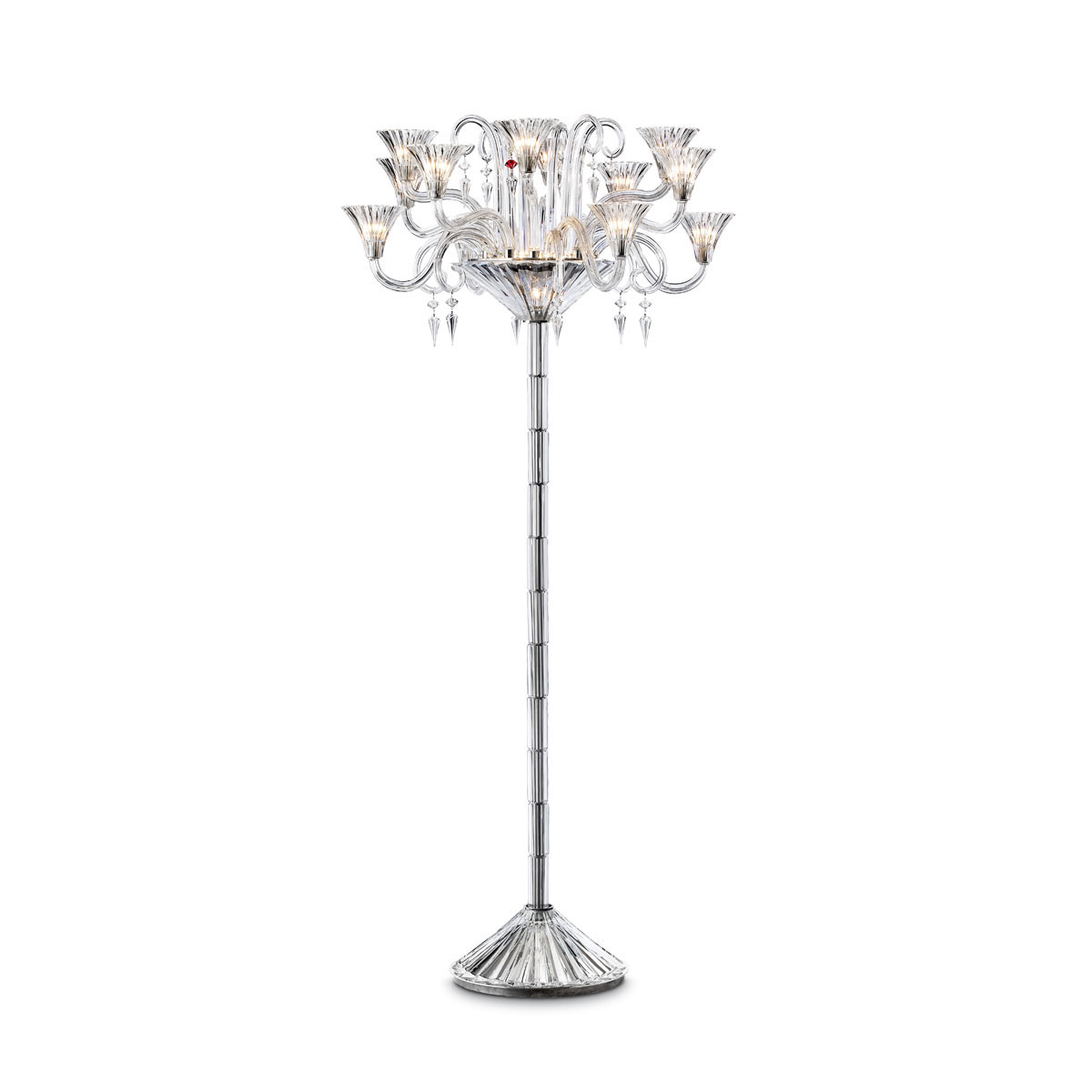 Baccarat Crystal, Mille Nuits 12-Light Floor Crystal Lamp Crystal Candelabra