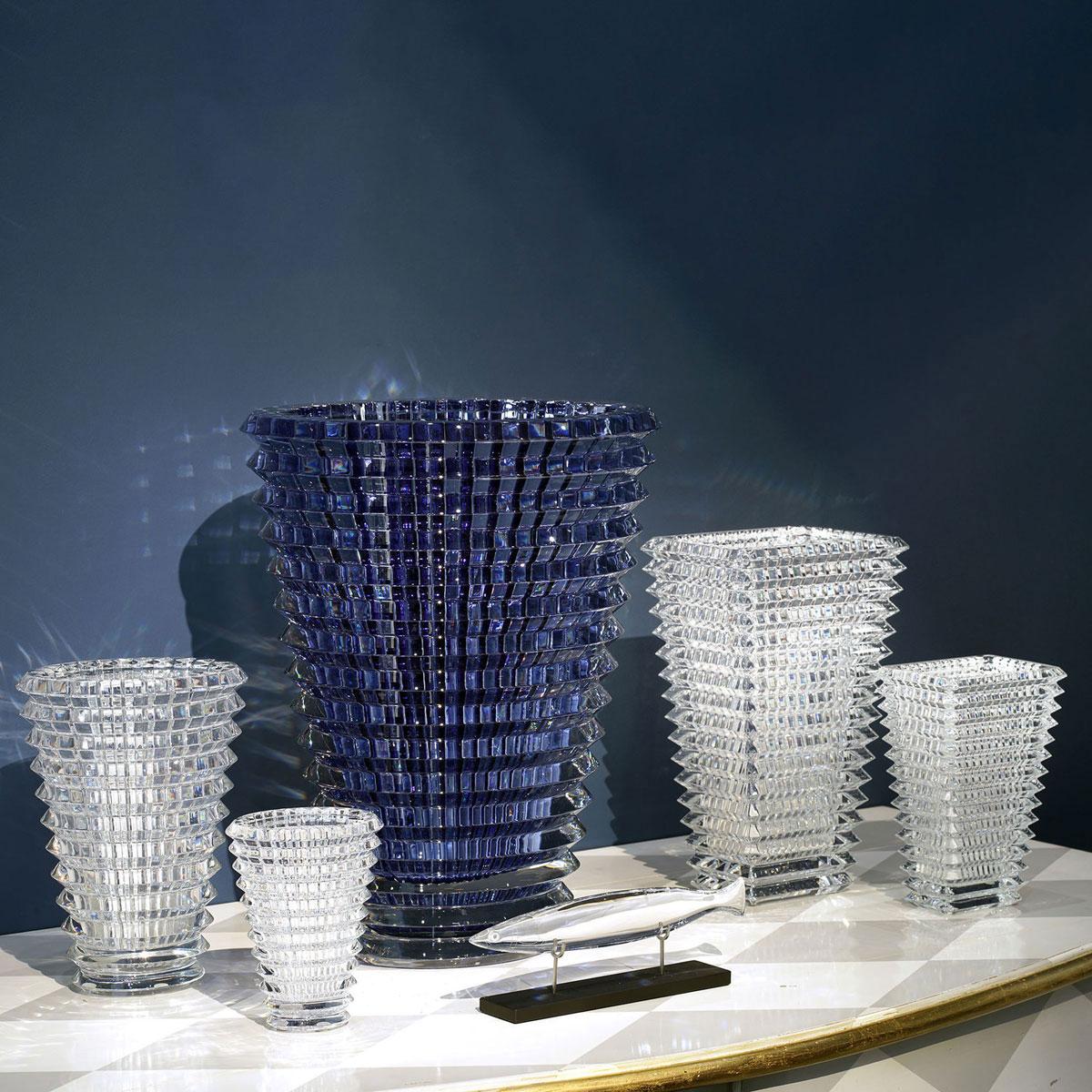 "Baccarat Crystal, Eye Rectangular 8"" Vase, Clear"