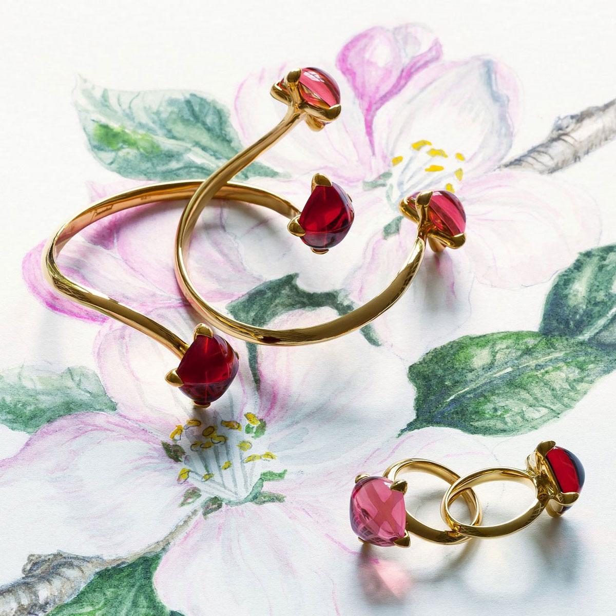 Baccarat Crystal Medicis You And Me Bracelet Vermeil Gold Pink