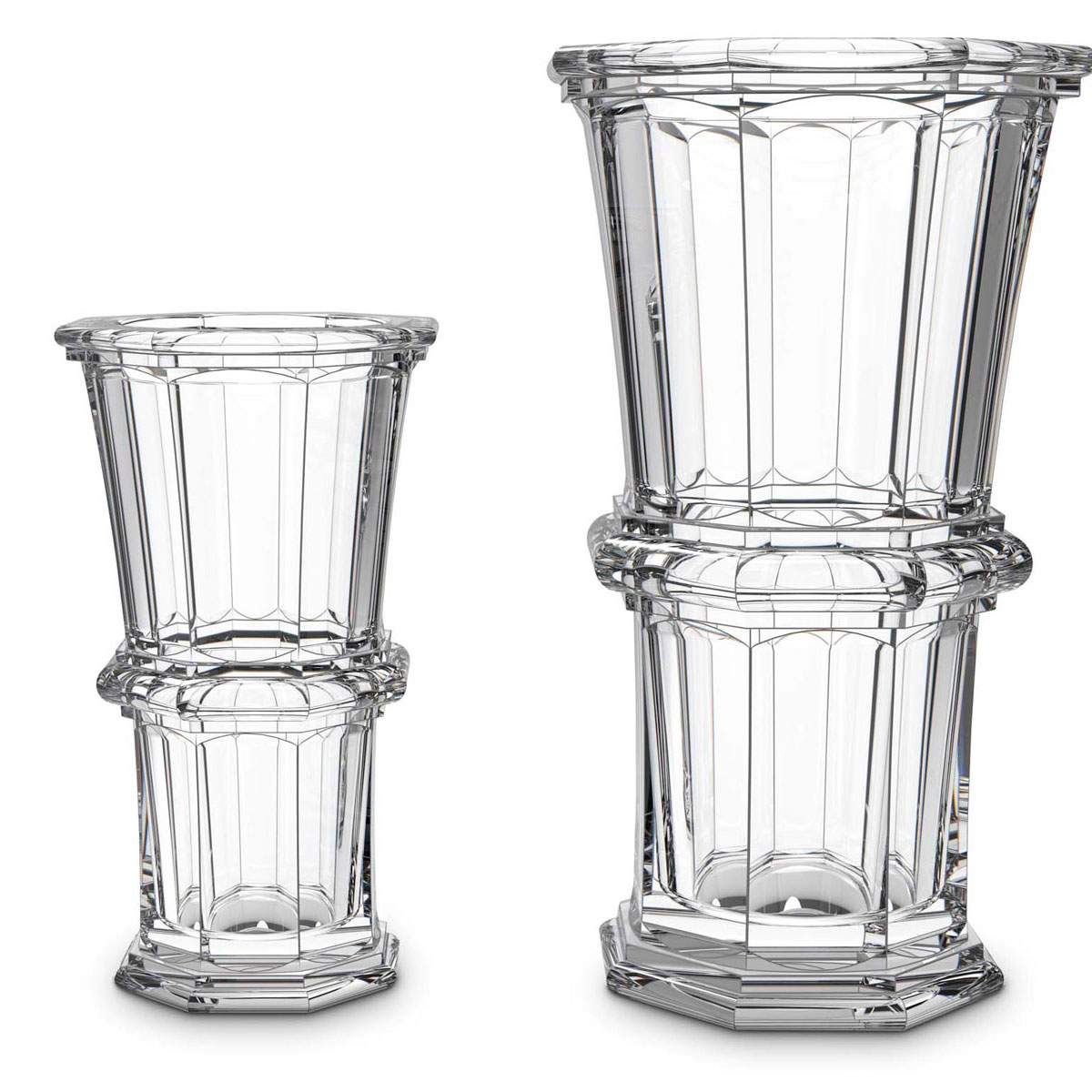 Baccarat Crystal, Harcourt Straight Crystal Vase, Medium