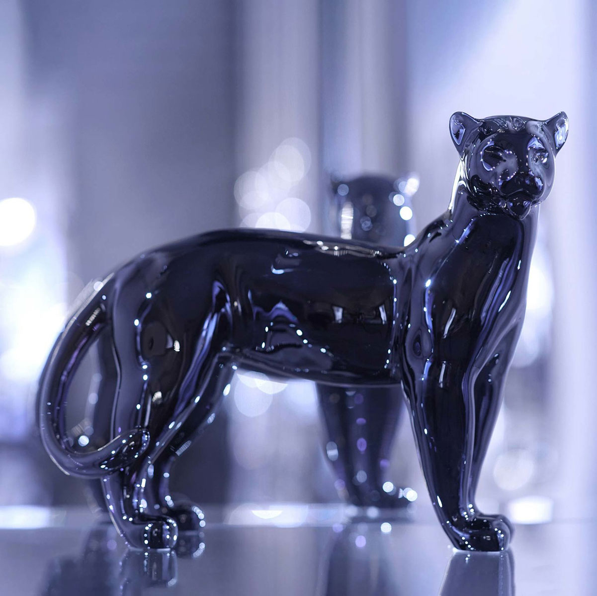 Baccarat Crystal, Panther Large, Midnight Limited Edition, 99 Pieces