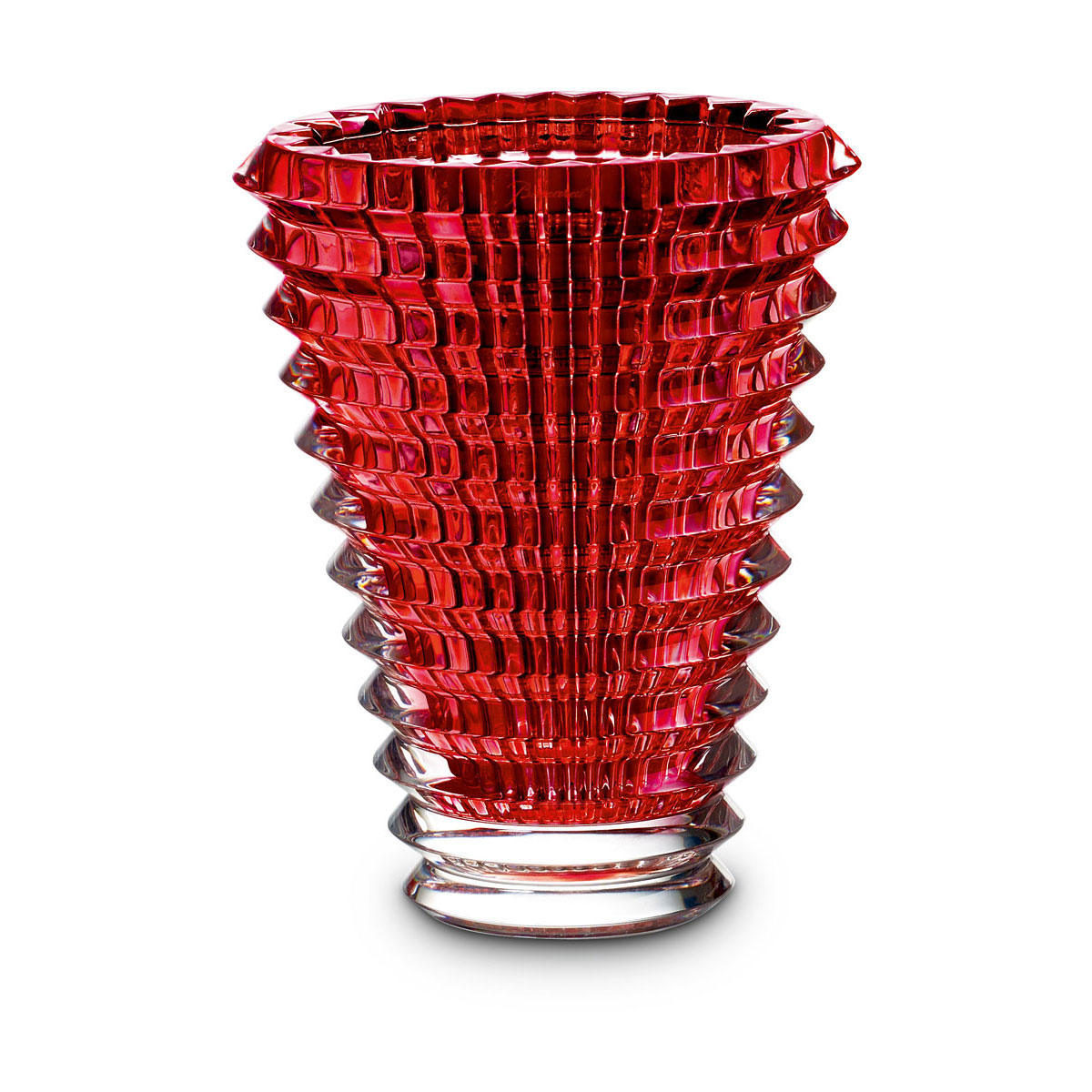 "Baccarat Crystal, Eye 6"" Vase, Red"
