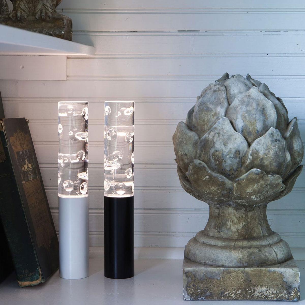 Baccarat Crystal, Jallum Pontil Candle Lamp, 1 Lamp, White