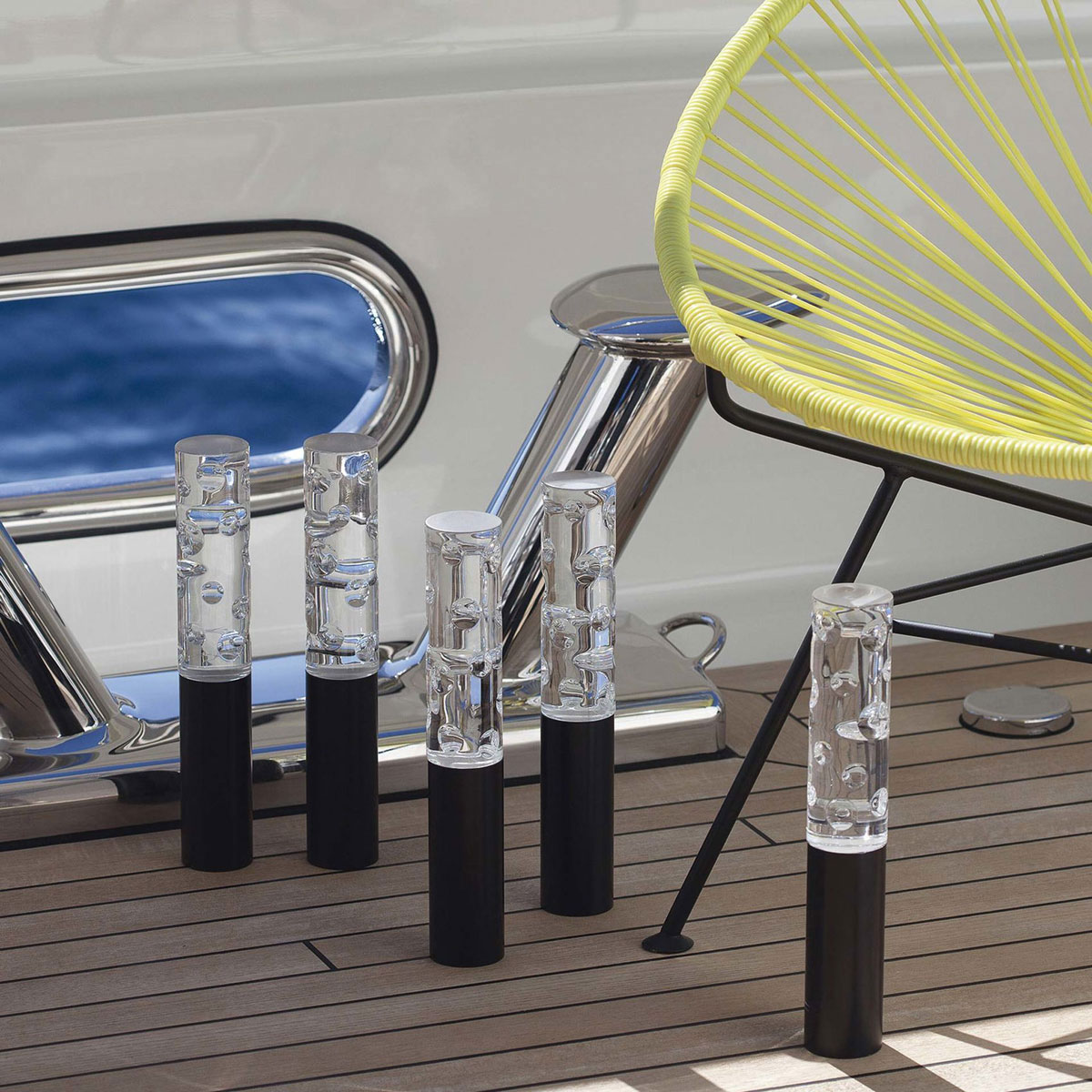 Baccarat Crystal, Jallum Pontil Candle Lamps, Set of 4, Black