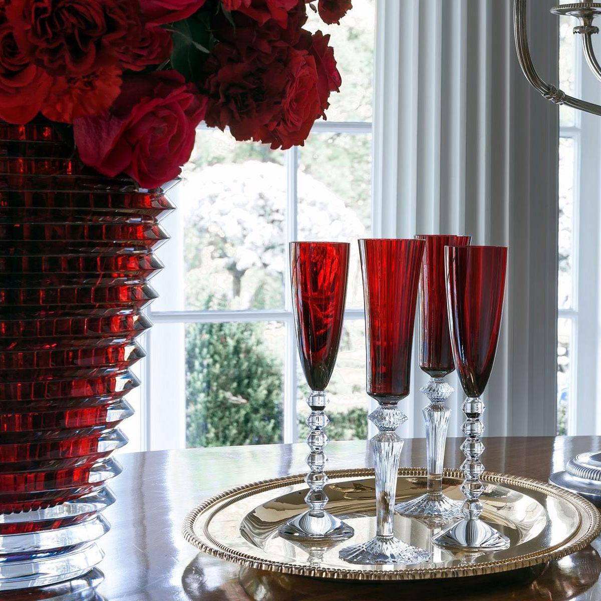 "Baccarat Crystal, Eye Extra 16 1/2"" Vase, Red"